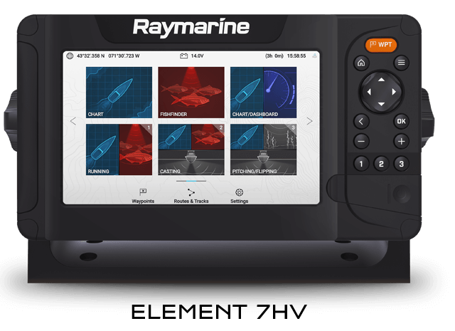 Raymarine Element 7HV Sonar GPS with HV100 Transducer - E70532-05-AUS