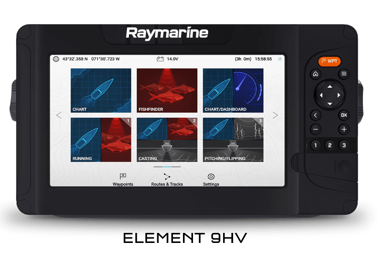 Raymarine Element 9HV Sonar GPS with HV100 Transducer - E70534-05-AUS