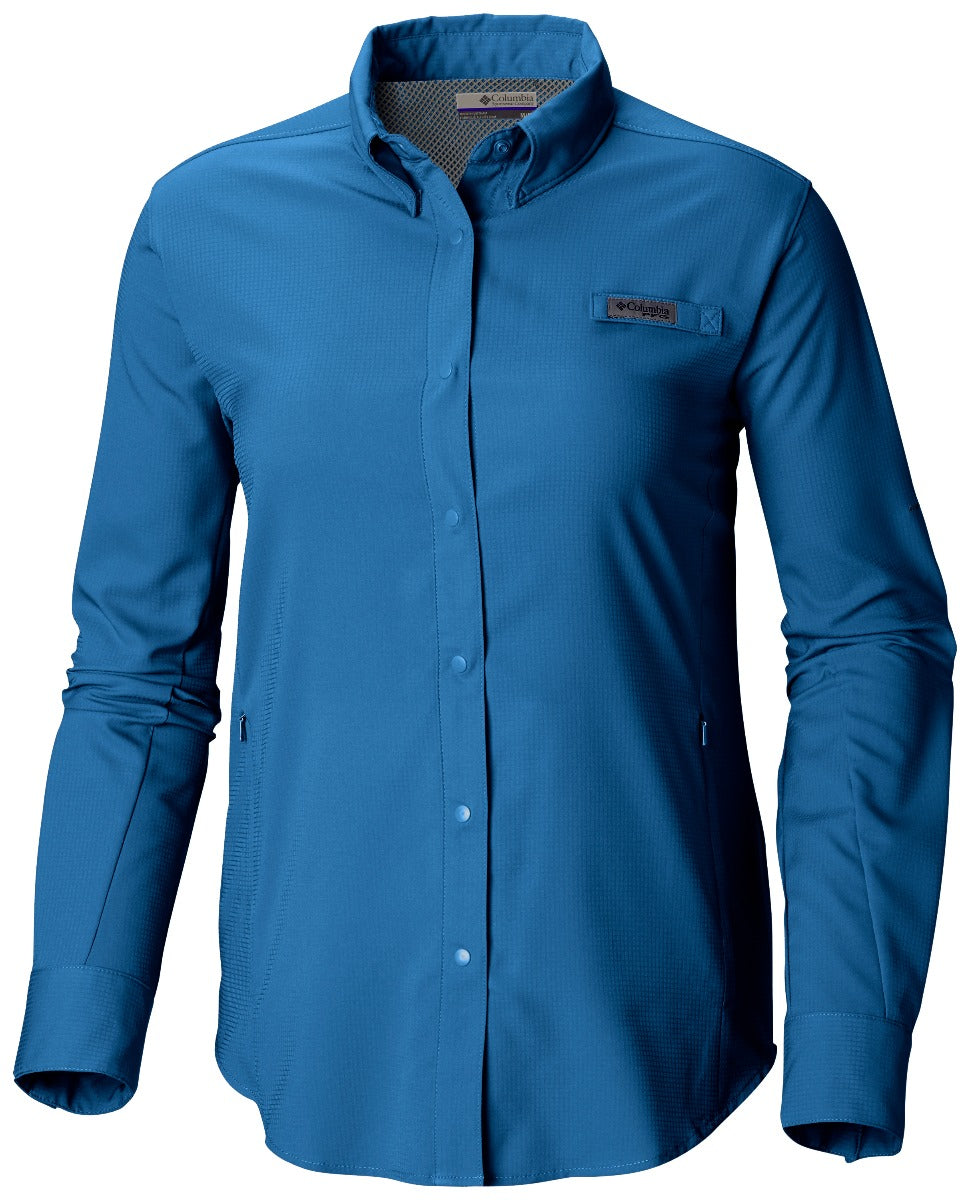 Columbia PFG Tamiami II Long Sleeve Womens Shirt Impulse Blue
