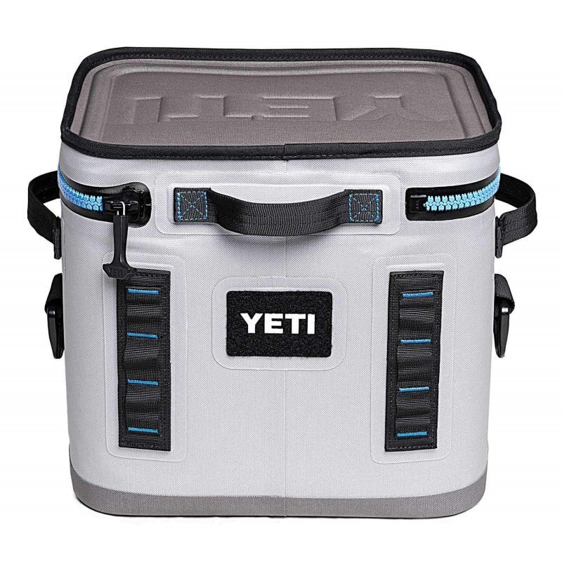 YETI Hopper Flip Fog Gray Tahoe Blue Cooler - 12
