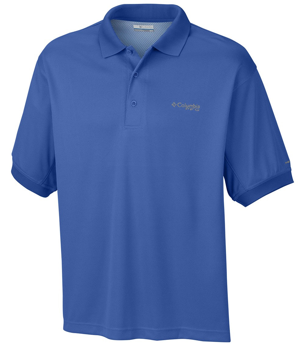 Columbia Perfect Cast Mens Polo Shirt Blue