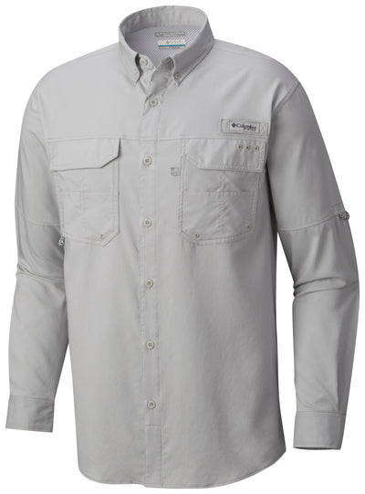 Columbia PFG Blood and Guts III Long Sleeve Mens Shirt Cool Grey