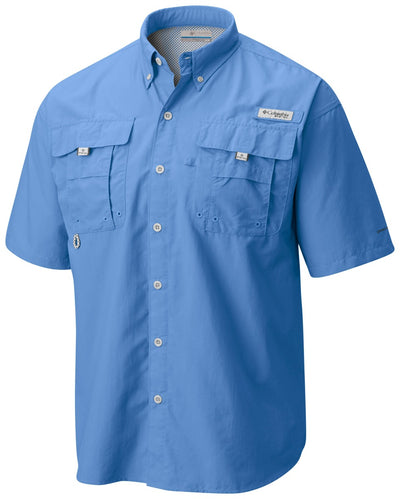 Columbia PFG Bahama II Short Sleeve Mens Shirt White Cap