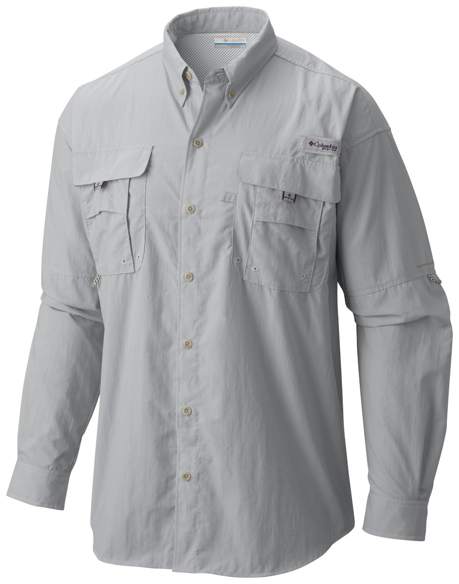 Columbia PFG Bahama II Long Sleeve Mens Shirt Cool Grey