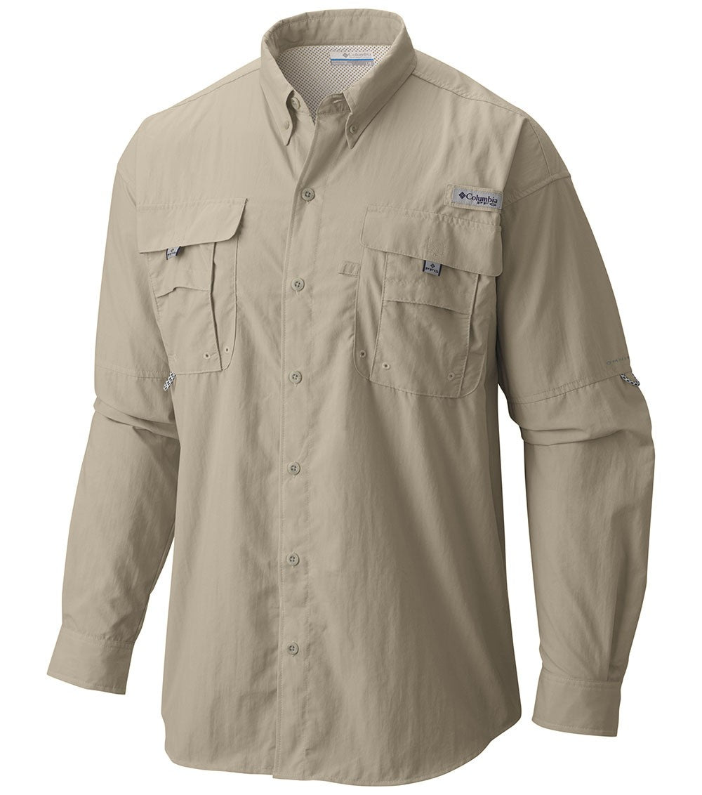 Columbia Bahama II Mens Long Sleeve Shirt Fossil