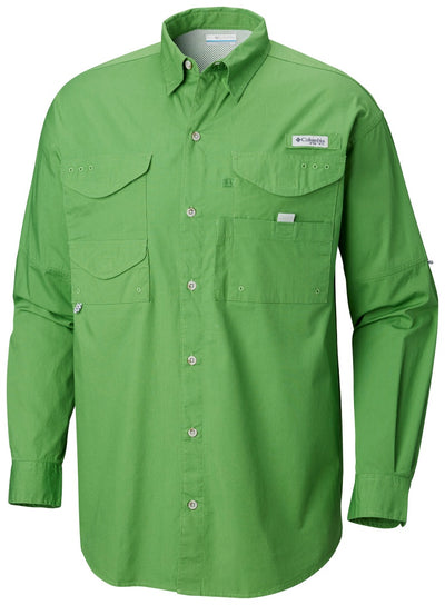Columbia PFG Bonehead Long Sleeve Mens Shirt Clean Green