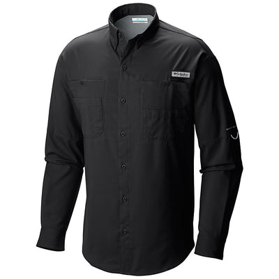 Columbia PFG Tamiami II Long Sleeve Mens Shirt Black