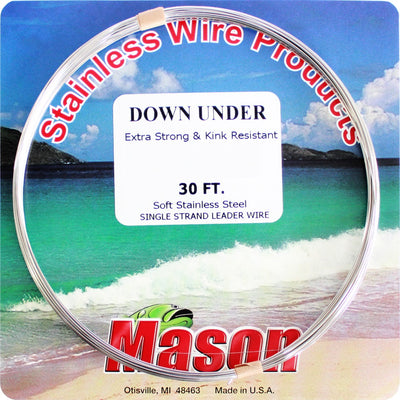 Mason Single Strand Downunder Stainless Steel Wire