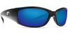 Costa Del Mar Hammerhead Black Frame Polarised Sunglasses - Blue Mirror Lense 400G
