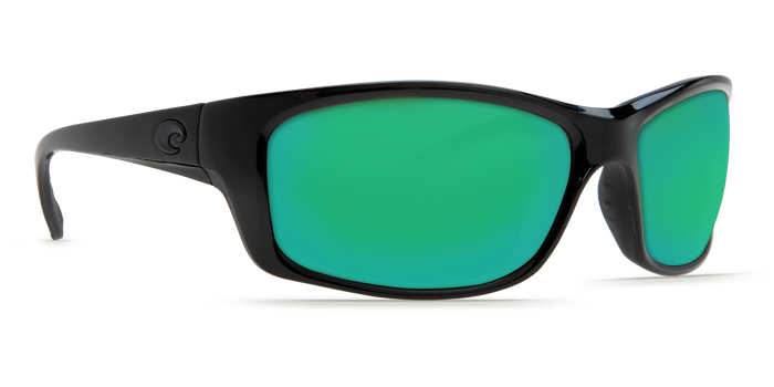 Costa Del Mar Jose Black Frame Polarised Sunglasses - Green Mirror Lense 400G
