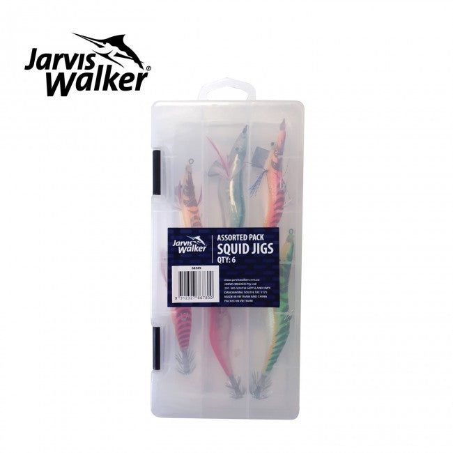 Jarvis Walker Assorted Squid Jig Pack with Free Box