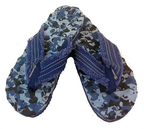 Kokoda Knobby Thongs Camo Navy Blue