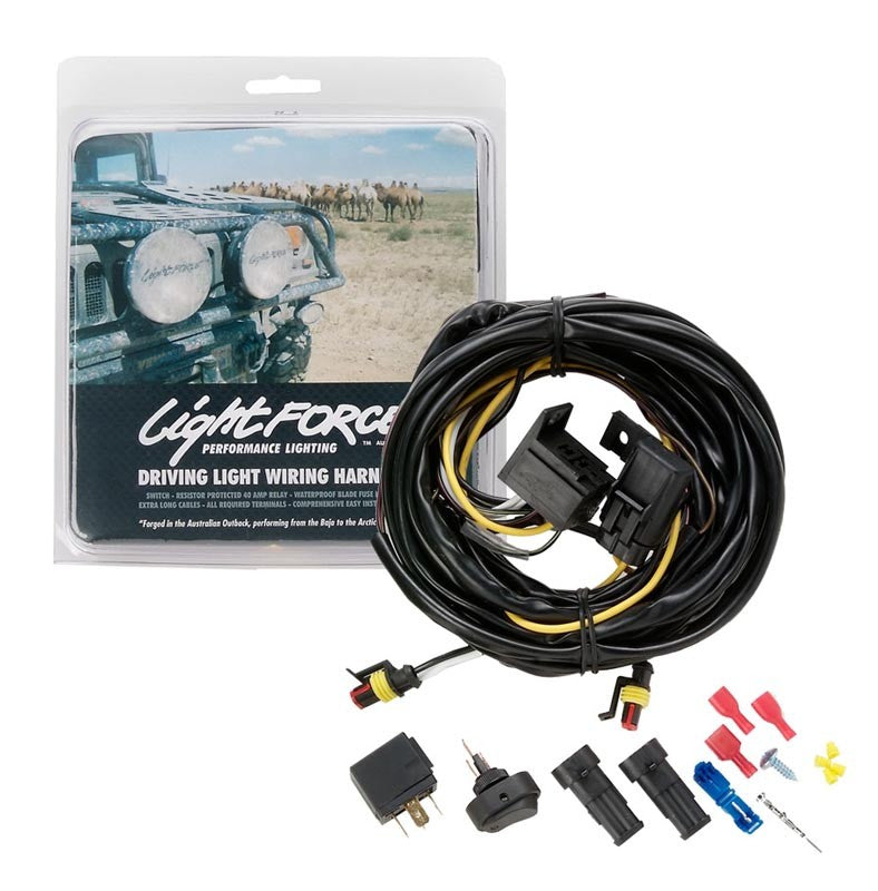 Lightforce Genuine Complete Driving Light Wiring Harness Kit 12V - LFDLH