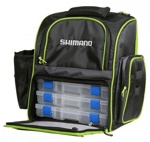 Shimano Tackle Backpack with 3 Boxes