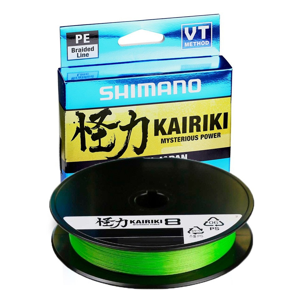 Shimano Kairiki 8 Braided Fishing Line 300m Green
