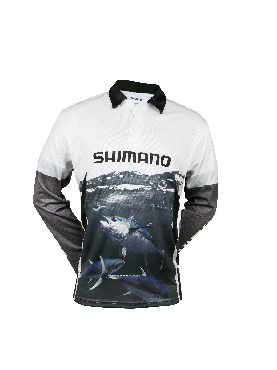Shimano Ocea Tuna Sublimated Adult Shirt Grey White