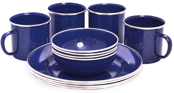 OZtrail Enanel Dinner Set