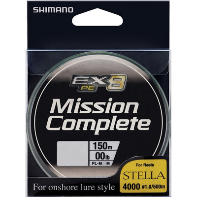 Shimano Mission Complete EX8 Braided Fishing Line Chartreuse 150m