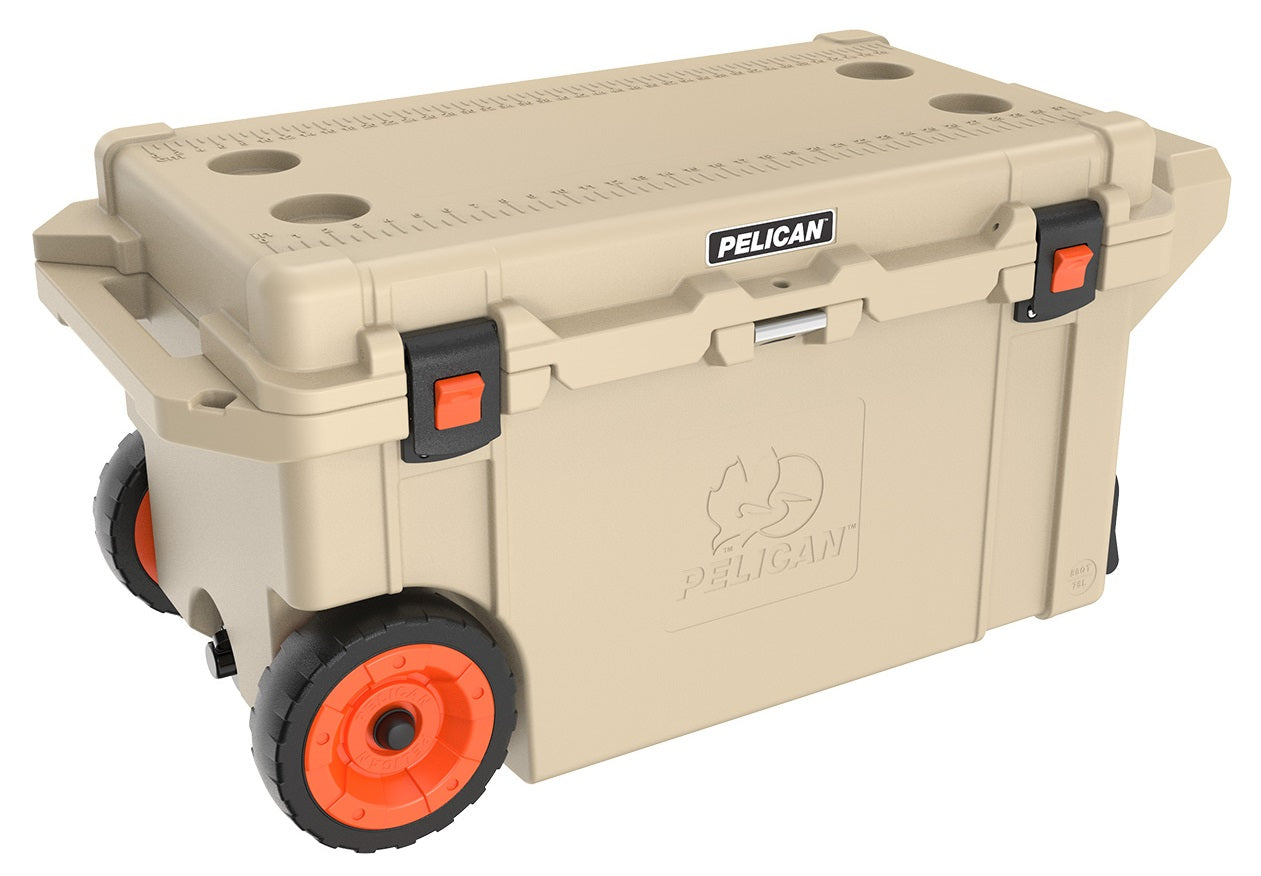 Pelican Progear Elite Wheeled Cooler - Tan / 76 Litre