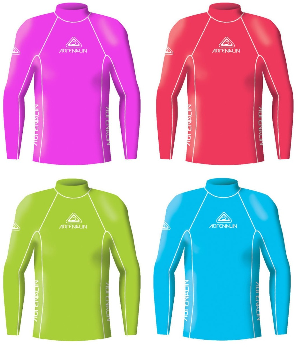 Adrenalin Junior Lycra Long Sleeve Rash Vest