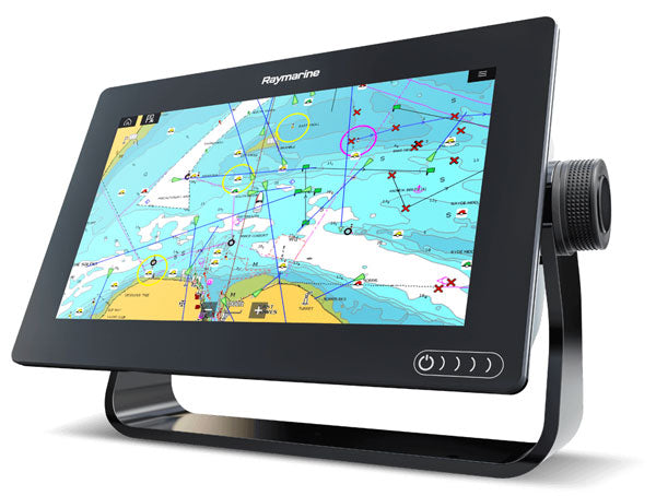 Raymarine Axiom+ Plus 7 MFD 3D RV Sonar Sounder Fishfinder GPS Charplotter Combo Unit with RV 100 Transducer E70635-03