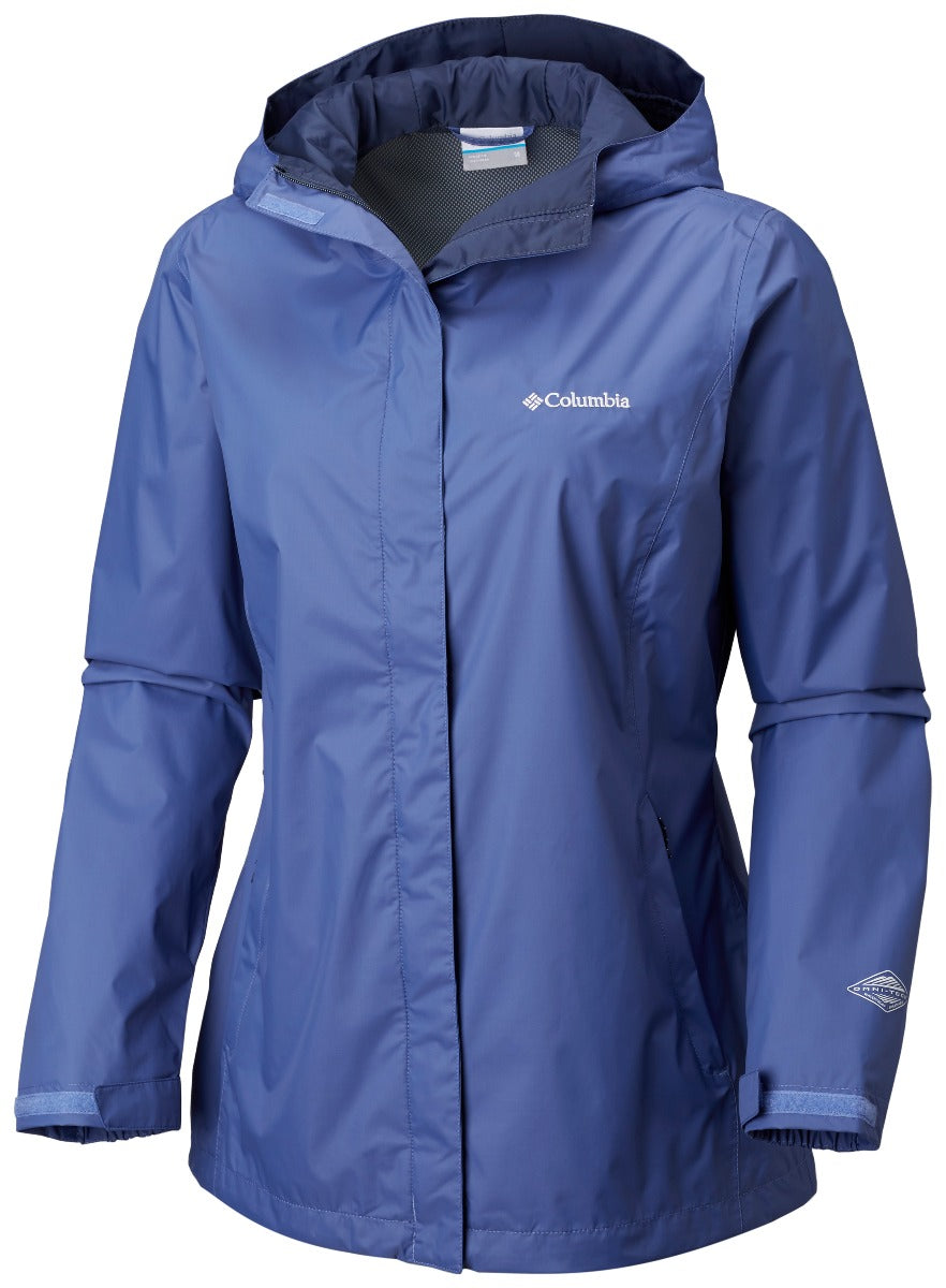 Columbia Arcadia II Womens Rain Jacket Blue