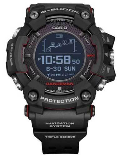 CASIO G-SHOCK 2018 Rangeman Black GPS Watch - GPR-B1000-1DR