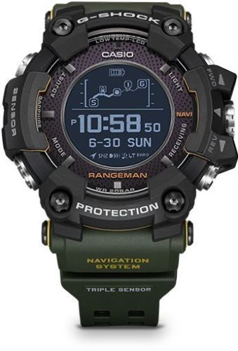 CASIO G-SHOCK 2018 Rangeman Green GPS Navigation Solar Assisted Watch - GPR-B1000-1BDR