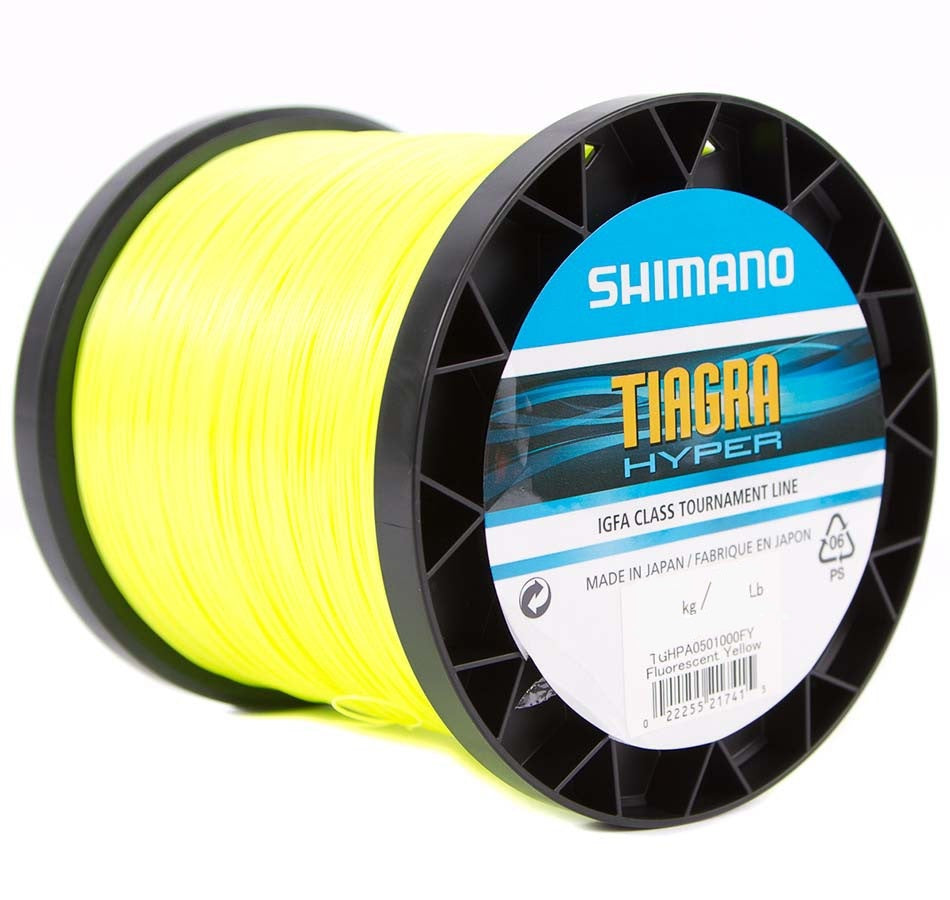 Shimano Tiagra Hyper Yellow Mono Game Fishing Line - 1000m