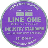 Jerry Brown Line One Spectra 300yd White Braided Fishing Line - 80lb