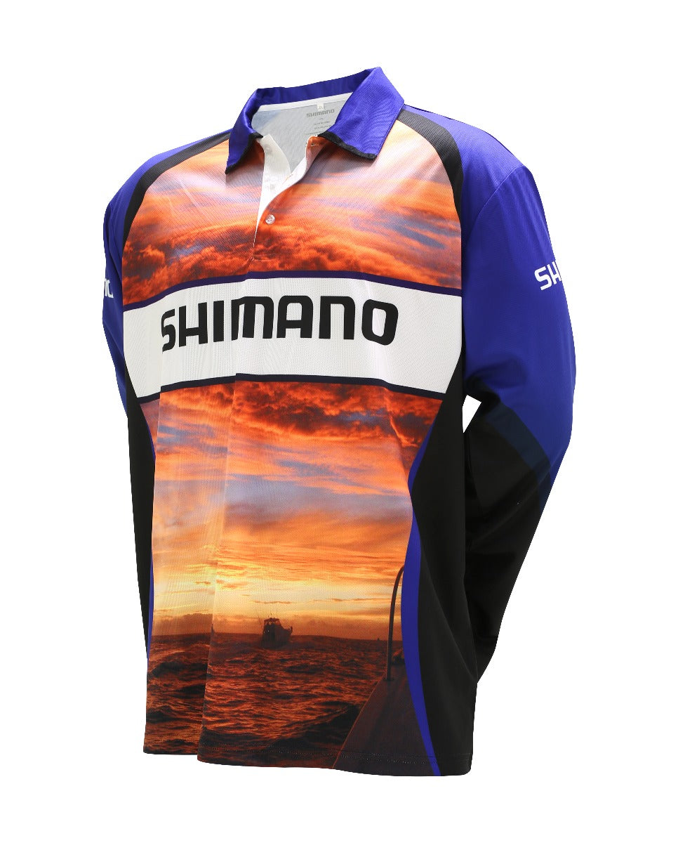 Shimano Sunset Sublimated Long Sleeve Fishing Shirt