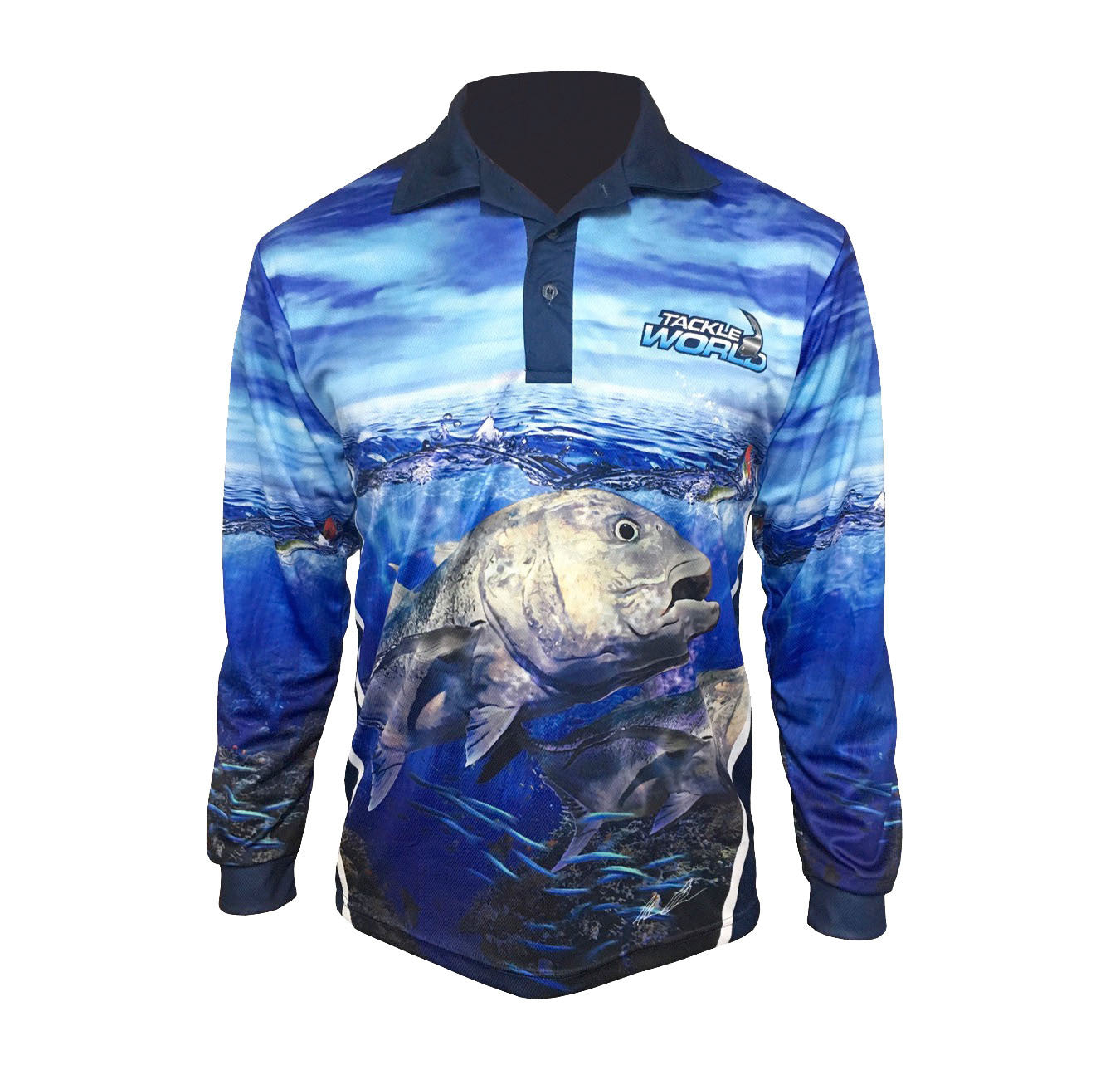Tackleworld GT Long Sleeve Fishing Shirt Kids