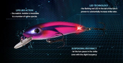 Balista Trigger 70mm Flashing LED Hard Body Lure