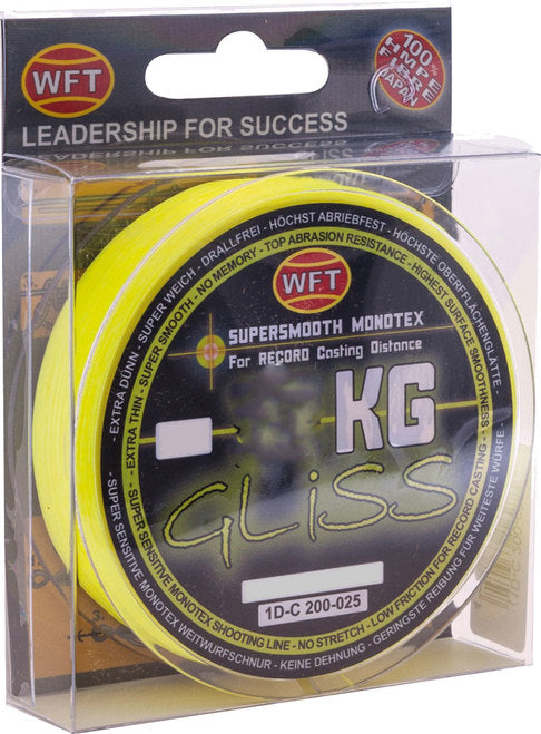 WFT Gliss Monotex 150m Yellow Fishing Line