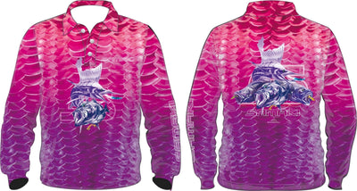 Samaki Windchime Kids Fishing Shirt Pink