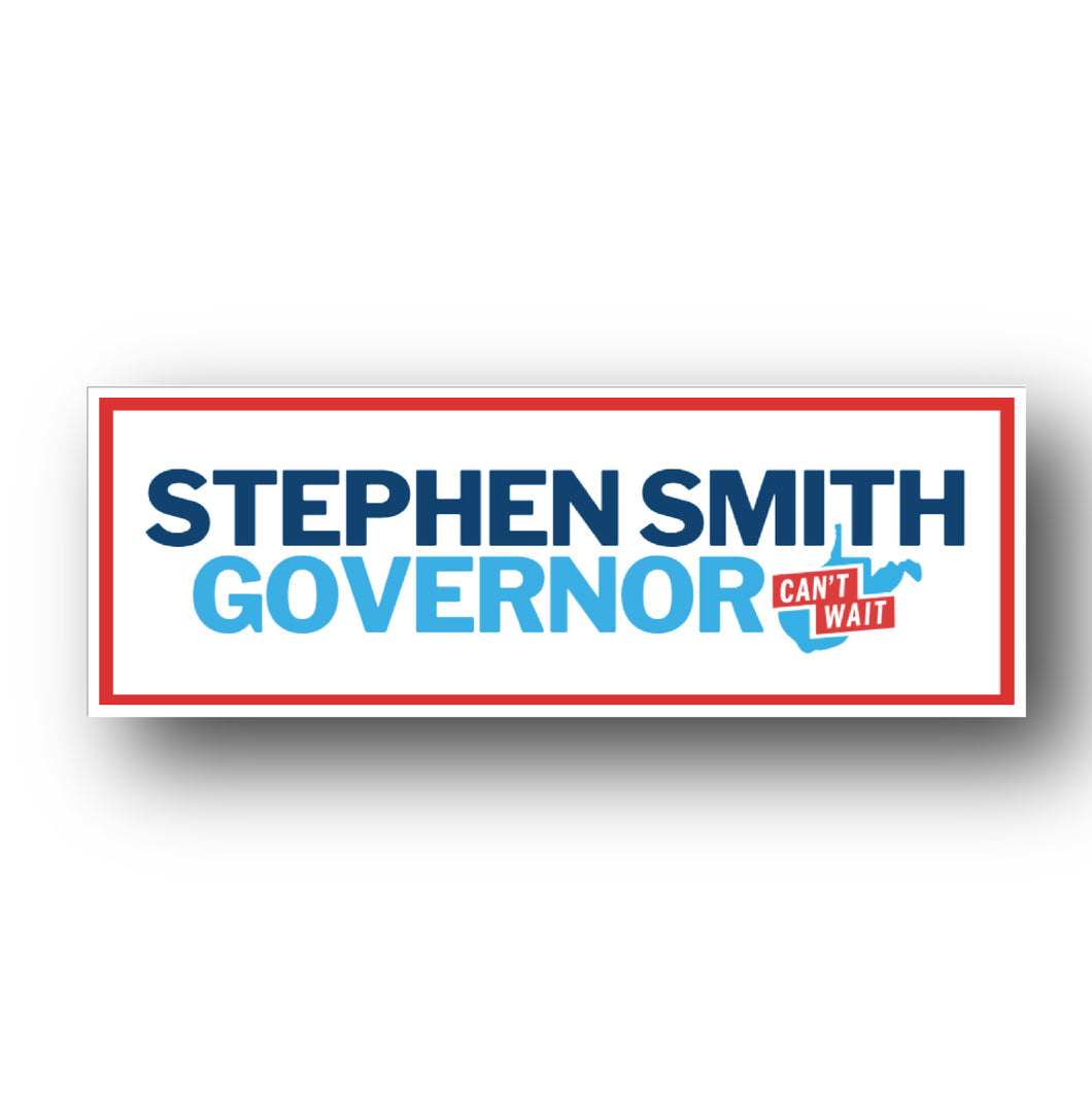 Stephen Smith Governor Bumper Sticker