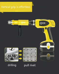 Multi-function rivet gun head