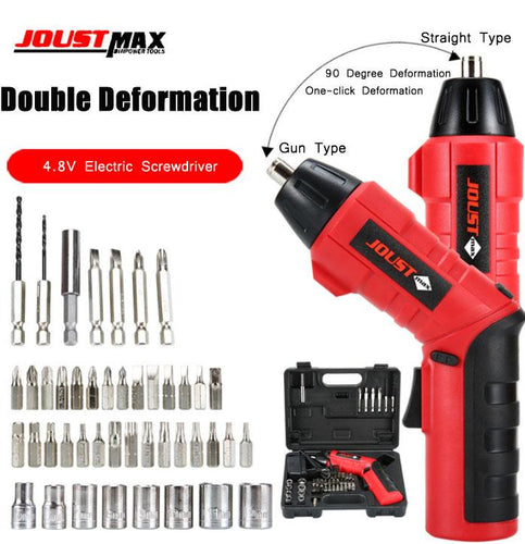 45-piece 4.8V electric screwdriver-Deformed drill