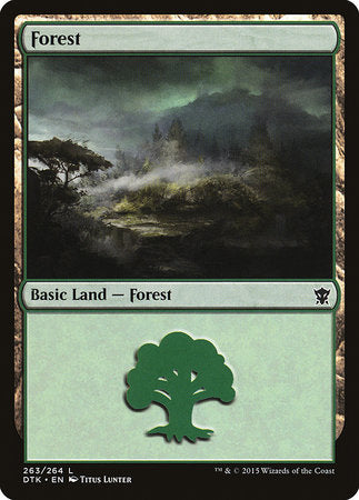 Forest (263) [Dragons of Tarkir] - [swordnboard] | Dark Ninja Gaming LA