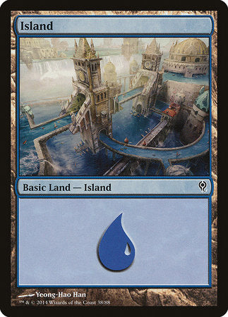 Island (38) [Duel Decks: Jace vs. Vraska] - [swordnboard] | Dark Ninja Gaming LA