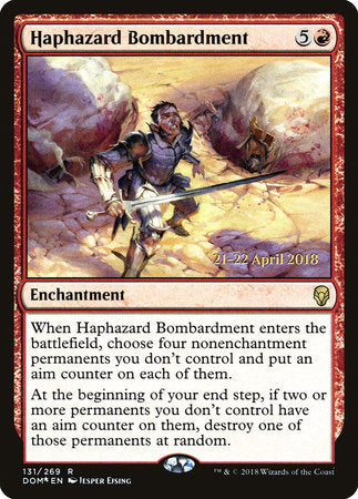 Haphazard Bombardment [Dominaria Promos] - [swordnboard] | Dark Ninja Gaming LA