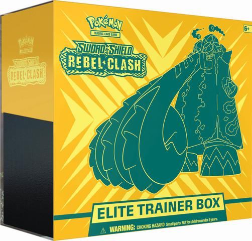 POKE'MON SWORD & SHIELD REBEL CLASH ELITE TRAINER BOX | Dark Ninja Gaming LA