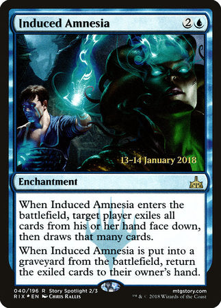 Induced Amnesia [Rivals of Ixalan Promos] - [swordnboard] | Dark Ninja Gaming LA