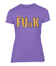 Load image into Gallery viewer, Spooky As Funk Ladies Fitted T-Shirt - Heather Purple