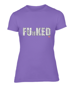 Funked Over Ladies Fitted T-Shirt - Heather Purple