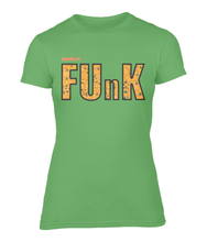 Load image into Gallery viewer, Spooky As Funk Ladies Fitted T-Shirt - Green Apple