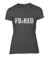 Load image into Gallery viewer, Funked Over Ladies Fitted T-Shirt - Black
