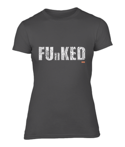 Funked Over Ladies Fitted T-Shirt - Black