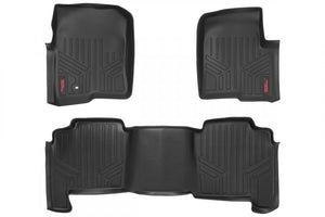 HEAVY DUTY FLOOR MATS [FRONT/REAR] - (04-08 FORD F-150 CREW CAB) - JK Performance