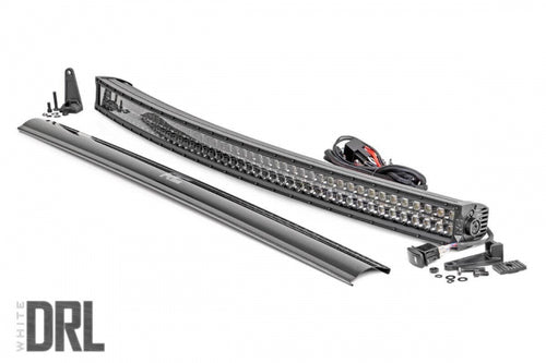 50-INCH CURVED CREE LED LIGHT BAR - (DUAL ROW W/ COOL WHITE DRL) - JK Performance